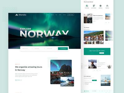 Travel Website - Norway website homepage figma web aurora norway tour trip travel web design design landing page