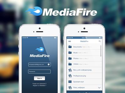 Mediafire app design responsive interface web app mediafire ux ui design