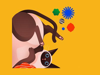 So, I drew a cat bestfolios vector tbilisi illustration georgia design creative colorfull color abstract cute cats cat