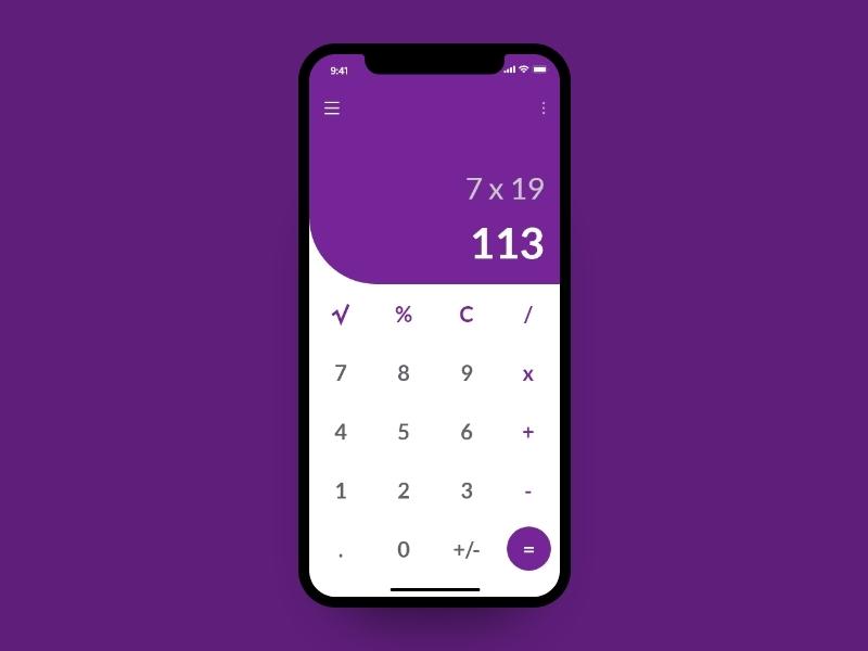 Calculator UI calculator app calculator calculator ui mobile minimal design ui ux designer ui  ux ui designer ui design