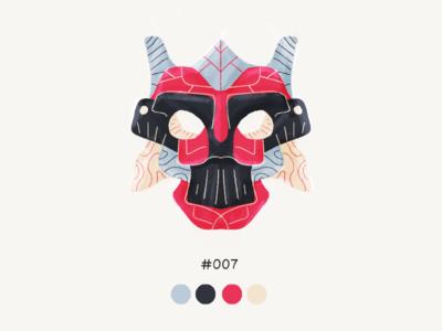 Masked Se7en color mask design illustration