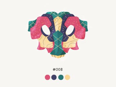 Masked Eight color mask design illustration