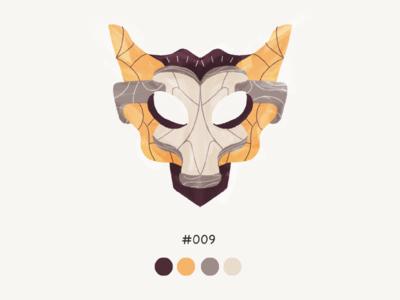 Masked Nine color mask design illustration