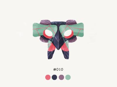 Masked Ten color mask design illustration