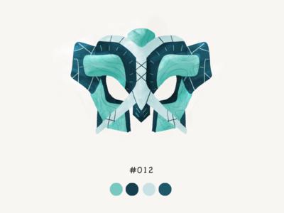 Masked Twelve color mask design illustration