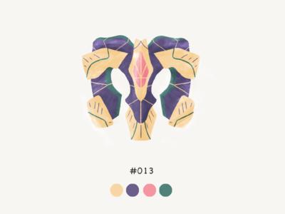 Masked Thirteen color mask design illustration