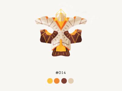 Masked Fourteen color mask design illustration