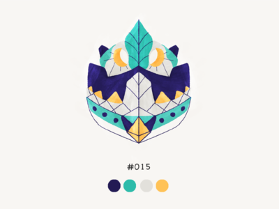 Masked Fifteen color mask design illustration