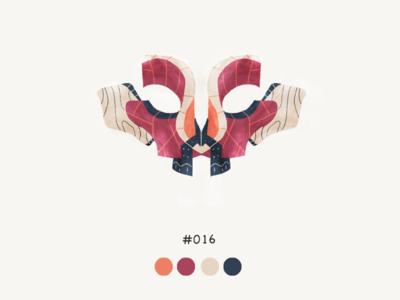 Masked Sixteeen color mask design illustration