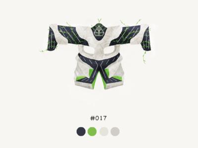 Masked Seventeen color mask design illustration