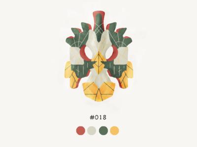 Masked Eighteeen color mask design illustration