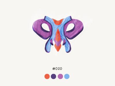 Masked twenty color mask design illustration