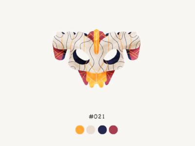 Masked twentyone color mask design illustration