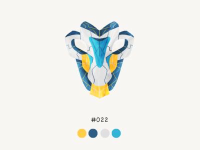 Masked twentytwo color mask design illustration