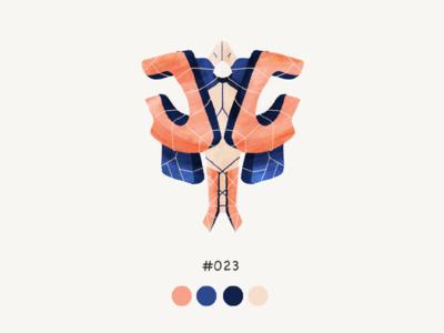 Masked twentythree color mask design illustration