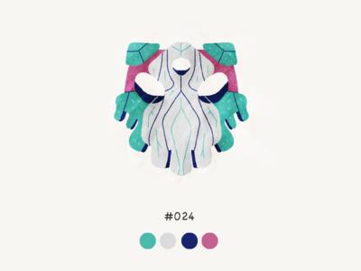 Masked twentyfour color mask design illustration