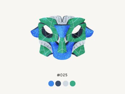 Masked twentyfive color mask design illustration