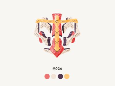 Masked twentysix color mask design illustration