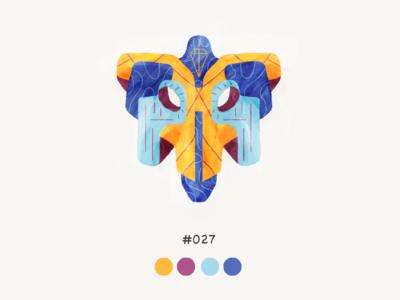 Masked twentyseven color mask design illustration