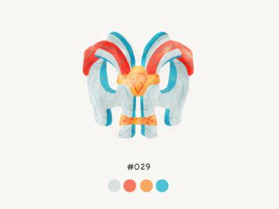 Masked twentynine color mask design illustration