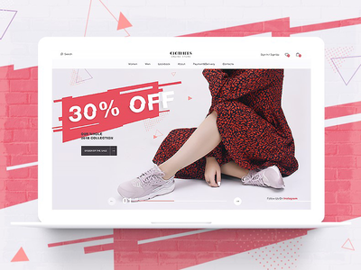ecom web design ecommerce design web ui