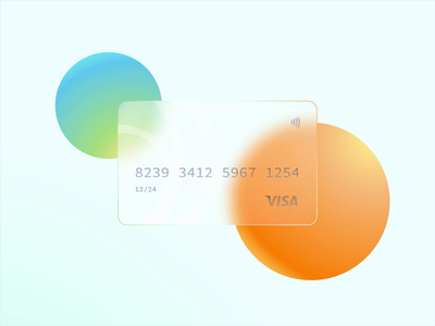 Glass Credit Card banking bank glass card colorful figma payment cc credit card credit card glassy glass color minimal clean motion graphic motion design motion design animation