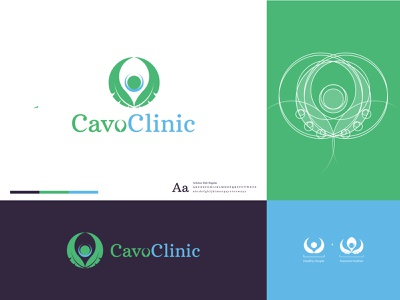Cavo Clinic Logo healthcare healthy herbal spa minimal clean vector negative space branding brand icon logo meditation medicine wellness health clinic beauty o leter c letter