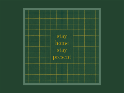 Stay Home Instagram Graphic - 5 of 5 type pattern stay present stay home typography design