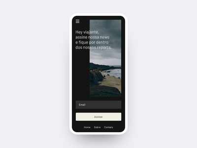 Mobile Newsletter - Daily UI