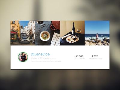 Creators Profile Header profile photos user header flat blur instagram