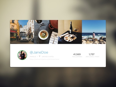 Creators Profile Header profile photos user header flat blur instagram