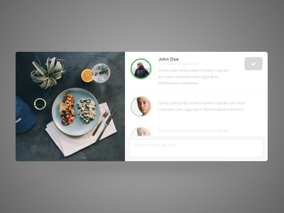Comment on Submitted Instagram Posts comment card picture image instagram flat profile button