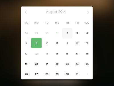 Minimal Date Picker date picker time picker instagram minimal web app