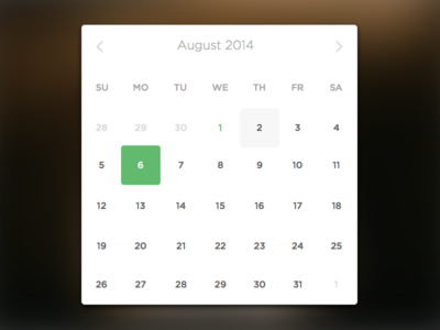 Minimal Date Picker date picker time picker instagram minimal web app