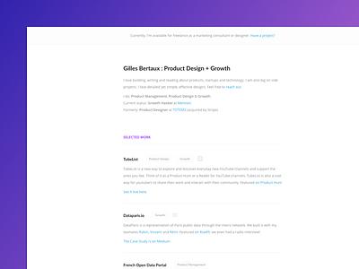 Portfolio tweaks onepage website clean typography ux ui minimal portfolio