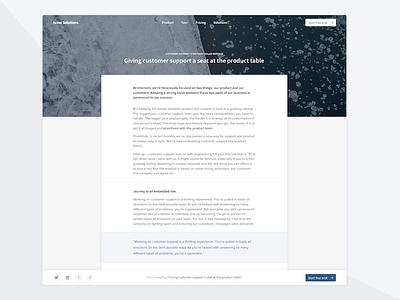 Blog Post Experiment cover clean nav cta share proxima source sans shadows post blog