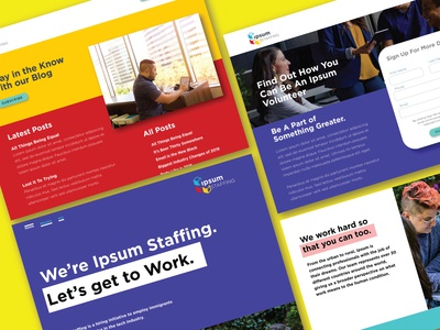 Ipsum Staffing   Landing Pages