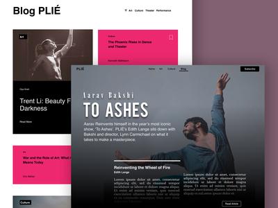 PLIÉ   Blog Concept