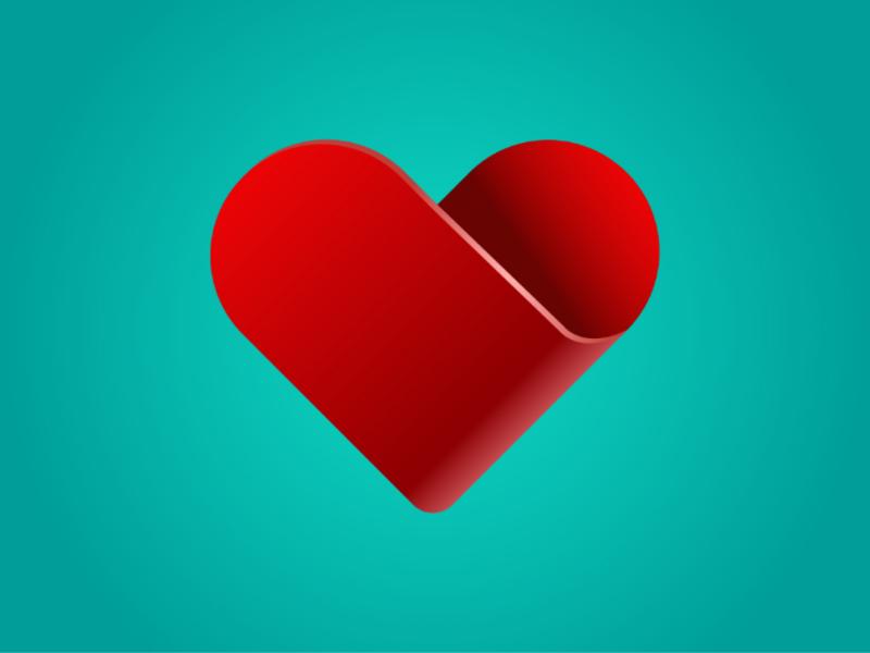 3D Heart illustrator illustration heart