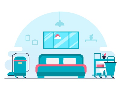 System is Updating Illustration bed illustraion error page error room service room cleaning hotel booking hotel