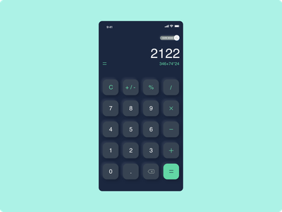 DailyUI :: 004 (Calculator)