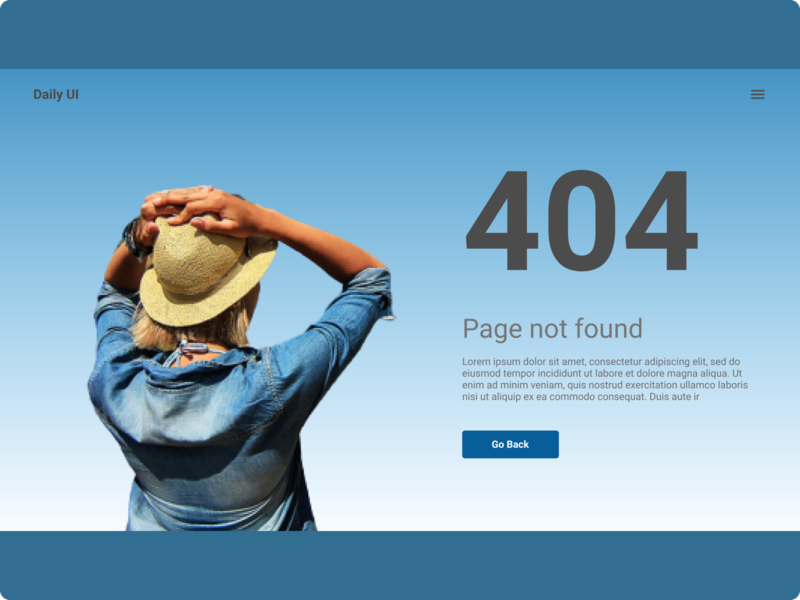 Daily UI :: 008 (404 page)
