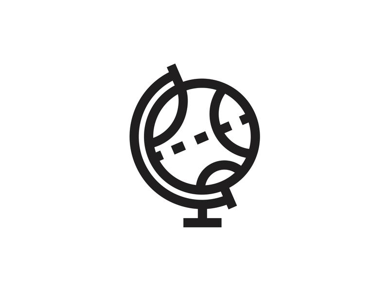 Icongeography [LOGO] icondesigner minimal illustration illustrator globe branding logo logodesign minimalist logo blackandwhite iconography architecture minimalism minimalist icon