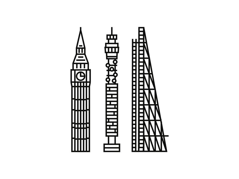 Towers of London minimal icon logodesigner minimalist minimal illustration minimalism logodesign logo iconography icon icondesigner blackandwhite architecture