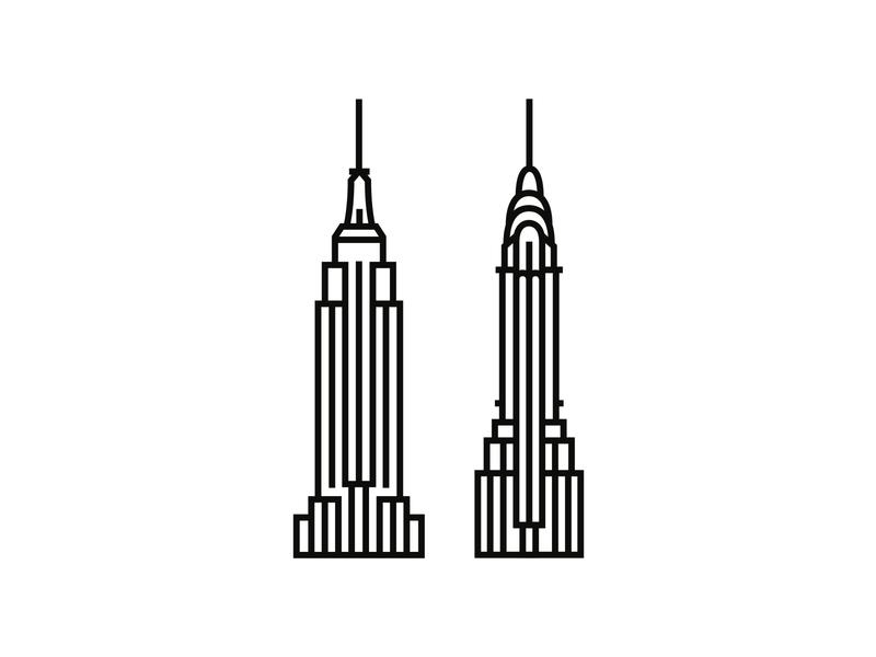 New York, New York minimalist minimal illustration minimalism logodesign logo iconography icon icondesigner blackandwhite architecture