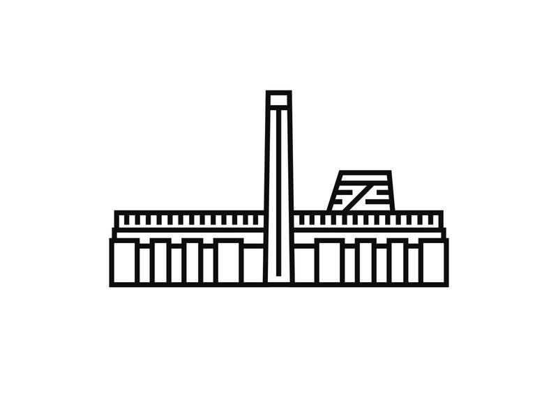 Tate Modern, London minimal logodesigner minimalist icon design minimalism logodesign logo iconography icondesigner icon blackandwhite architecture