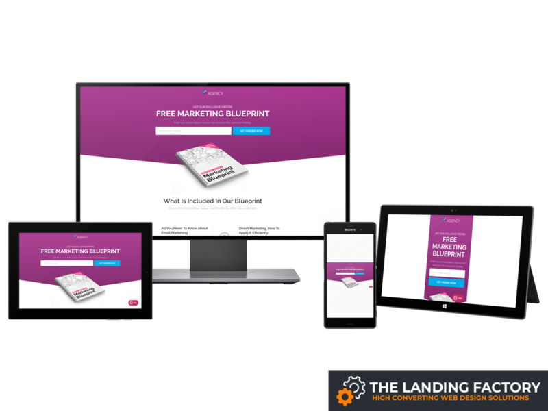 Lead generation template design for a company opt-in page