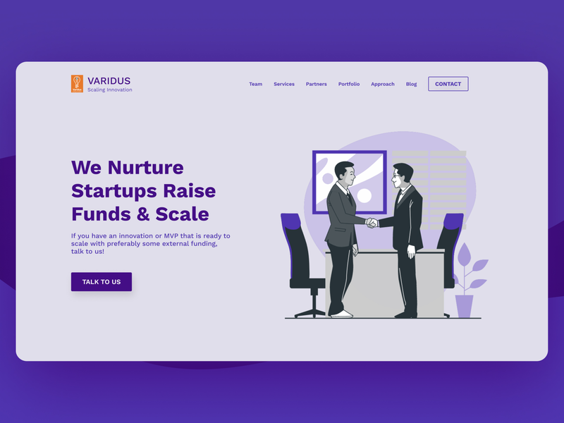Varidus - We help startups scale and get funding business startup branding design brand creative creative design art direction webillustration webdesign website artwork design appdesign visual design illustration art vector ui illustration minimal branding