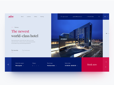 Сoncept for the hotel Marriott homepage daily creative color clean webdesign ux design uidesign ui minimal