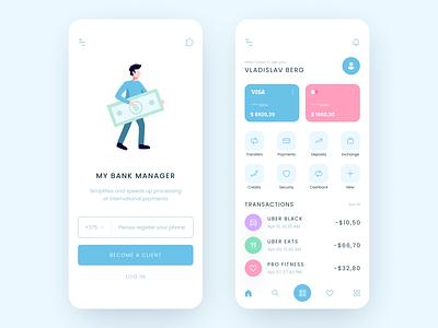 Mobile Banking App UX/UI design ux color ui fresh colors minimal clean bank app bank mobile application mobile app design mobile app mobile